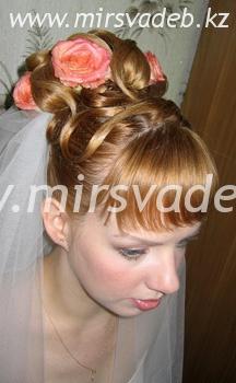 свадебные прически июнь2009 г